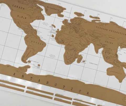 Deluxe Erase Black World Map