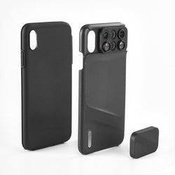 6 in 1 Cam Lens Phone Case for iPhone XR, XS & Max