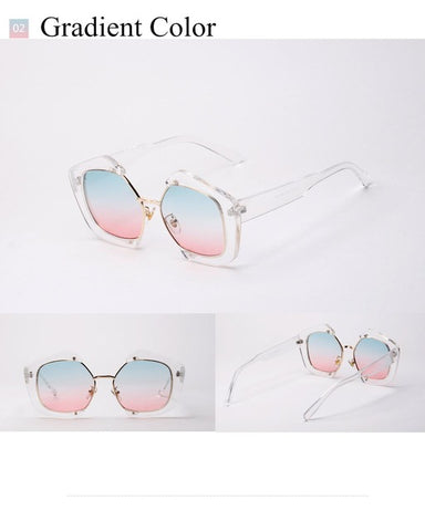 Vintage Polygonal sunglasses Women