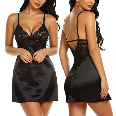 Silk Lace Nightwear Women Long