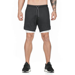 2 in 1 Running Shorts with Built-in Pocket