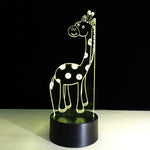 Giraffe 3D LED illusion Lamp