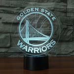 Golden State Warriors NBA  team 3D LED illusion Lamp