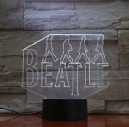 Classic Rock Culture Band 3D Lamp