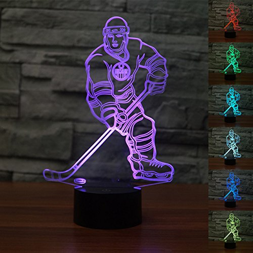 Hockey sports 3D illusion Lamp