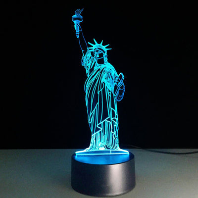 Statue Of Liberty 3D Illusion Lamp