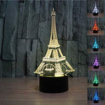 Eiffel Tower 3D Night Light LED illusion Lamp