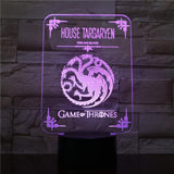 Game of Thrones 3D LED illusion Lamp