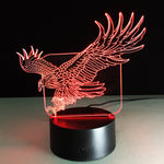 Big Bear Bald Eagle 3D Lamp red colour