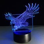 Big Bear Bald Eagle 3D Lamp