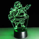 Red light Santa LED Lamp