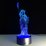 Statue Of Liberty 3D Lamp