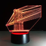 Golden Gate Bridge 3D  illusion Lamp