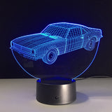 blue car 3d lamp