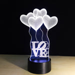 New Greetings 3D illusion Lamp