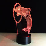 Bottlenose Dolphin 3D illusion Lamp