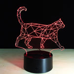 Cat Walk 3D LED illusion Lamp