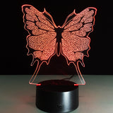 Purple Butterfly LED New Style Bed Room Lamp