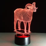 The G.O.A.T 3D illusion Lamp