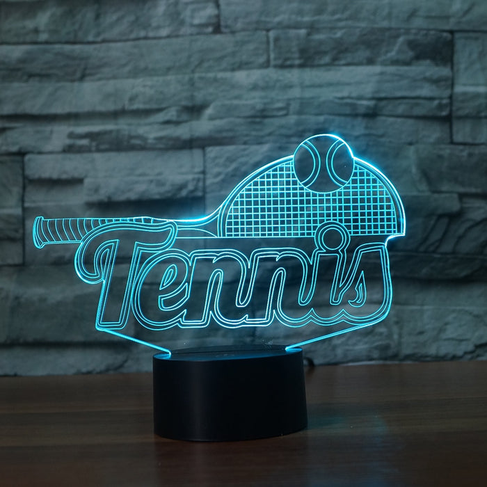 Tennis - 3D illusion Lamp