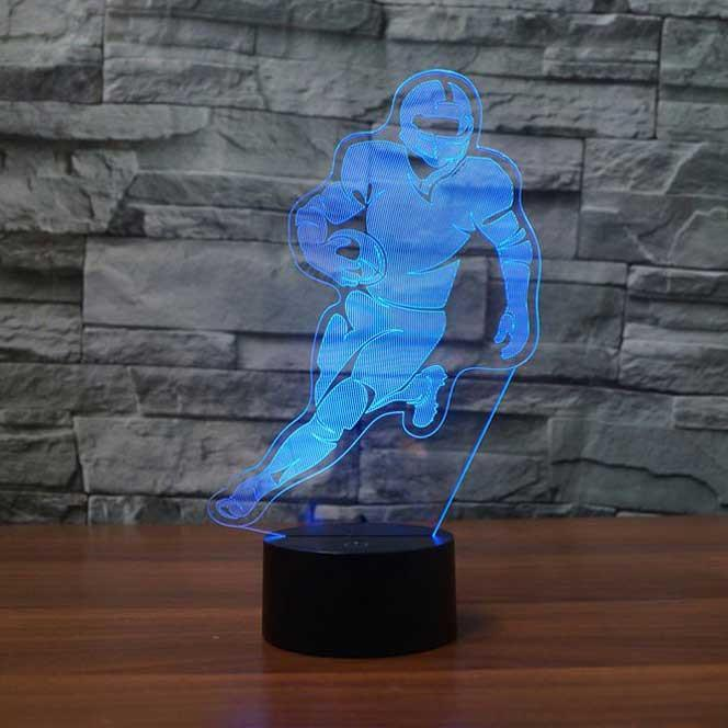 Football Running back 3D LED illusion Lamp