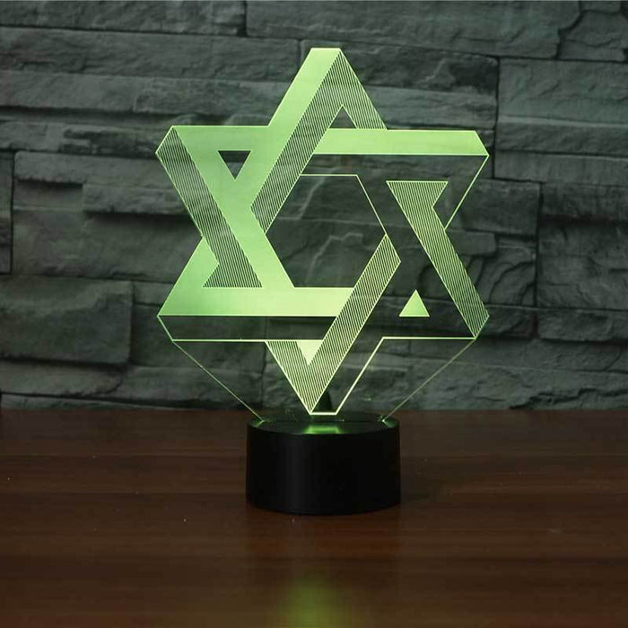 Star Of David - Jewish Culture 3D Illusion Lamp