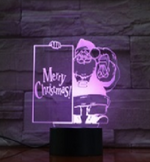Merry Christmas Santa 3D illusion Lamp