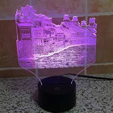 China historical cultural Phoenix Town shape 3D LED illusion Lamp