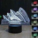 Sydney Opera House 3D Illusion Lamp