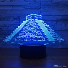 pyramids 3D Illusion Lamp