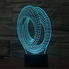 abstracts 3D LED illusion Lamp