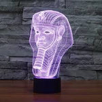 Egyptian Pharaoh 3D LED illusion Lamp