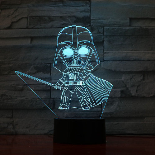 Mini Darth Vader 3D illusion Lamps