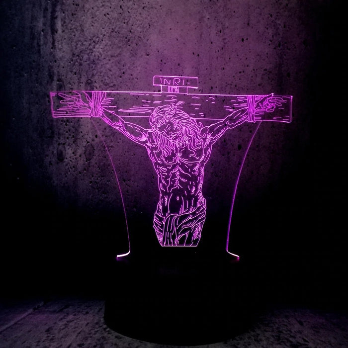 Jesus Christ  3D Illusion Lamp