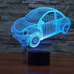 Beetle Car LED illusion Lamp