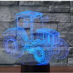 Tractor Car 3D LED illusion Lamp