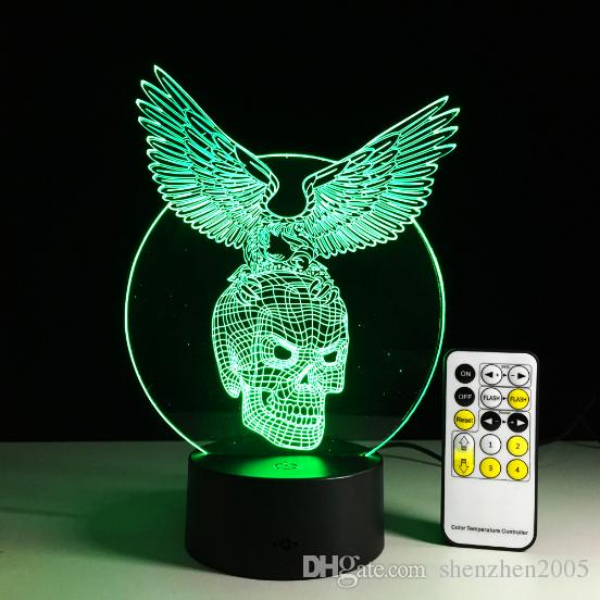 Eagle with Skull 3D LED illusion Lamp