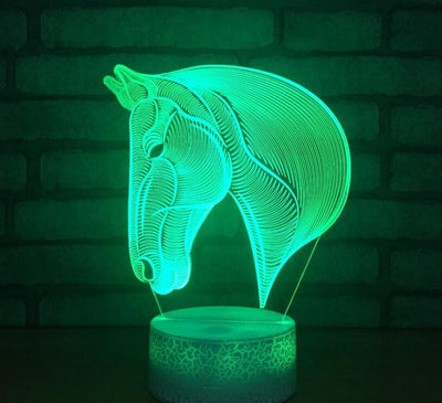 White Cracked Elephant Base 3D illusion Lamp