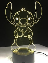 stitch's great escape - 3D Lamp YELLOW
