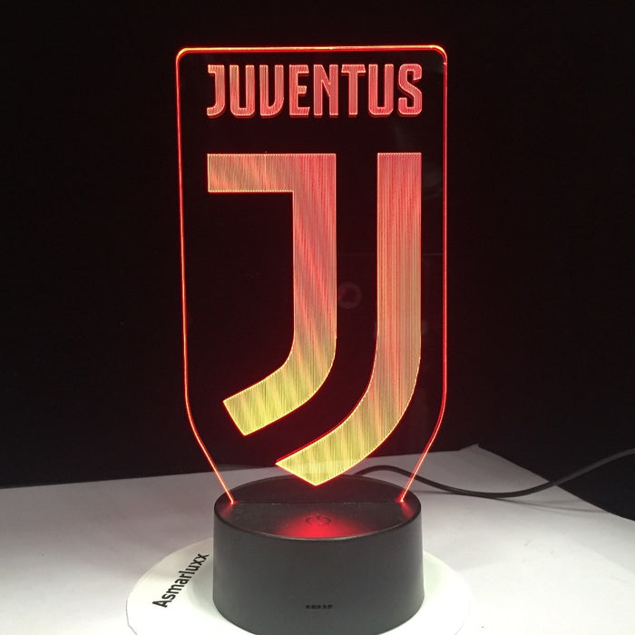 Juventus Soccer Club 3D illusion Lamp