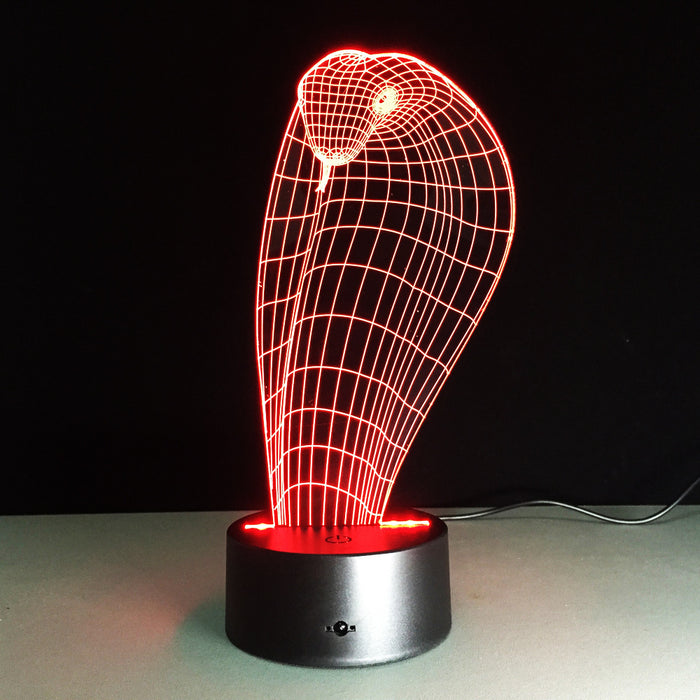 Cobra Snake 3D LED illusion Lamp