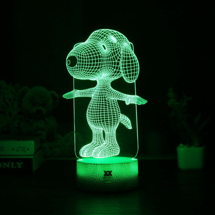 Snoopy 3D illusion Lamp