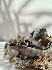 tourmaline and quartz cluster