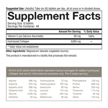 Load image into Gallery viewer, Collagen 160 Tablets Supplement Facts