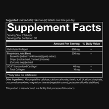 Load image into Gallery viewer, Mens Joint Complex 60 Tablets Supplement Facts