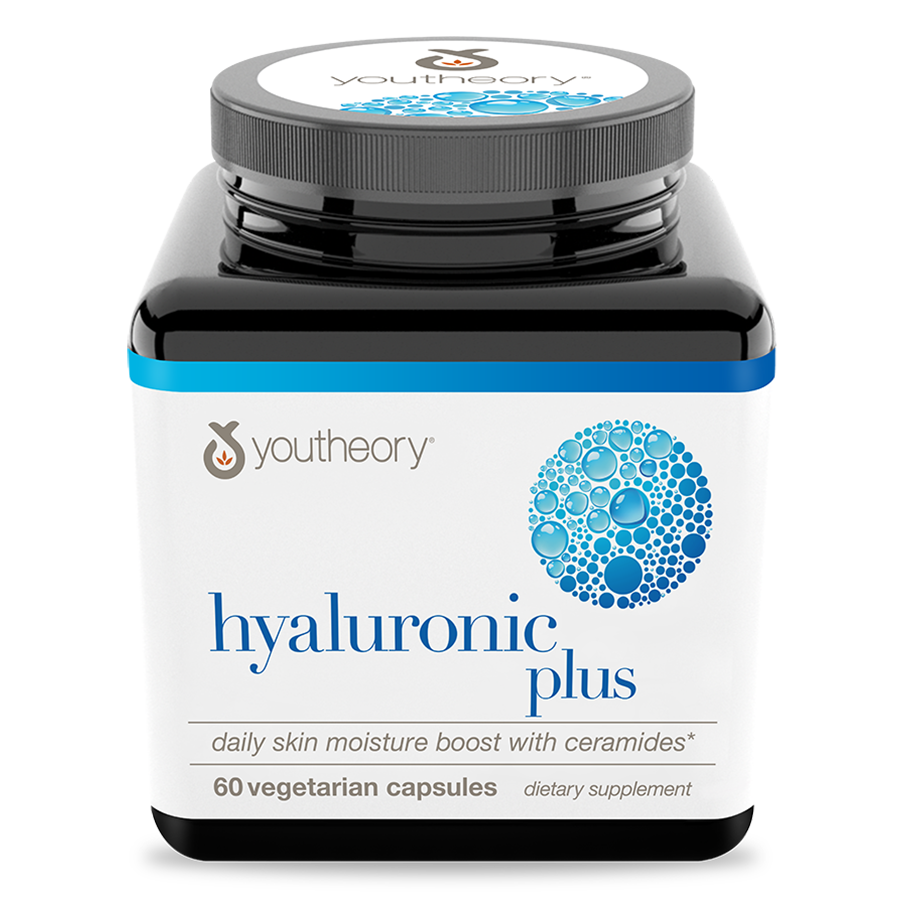 Hyaluronic Plus Vegetarian Capsules Bottle Front Side