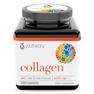 Collagen 160 Tablets Bottle Front View