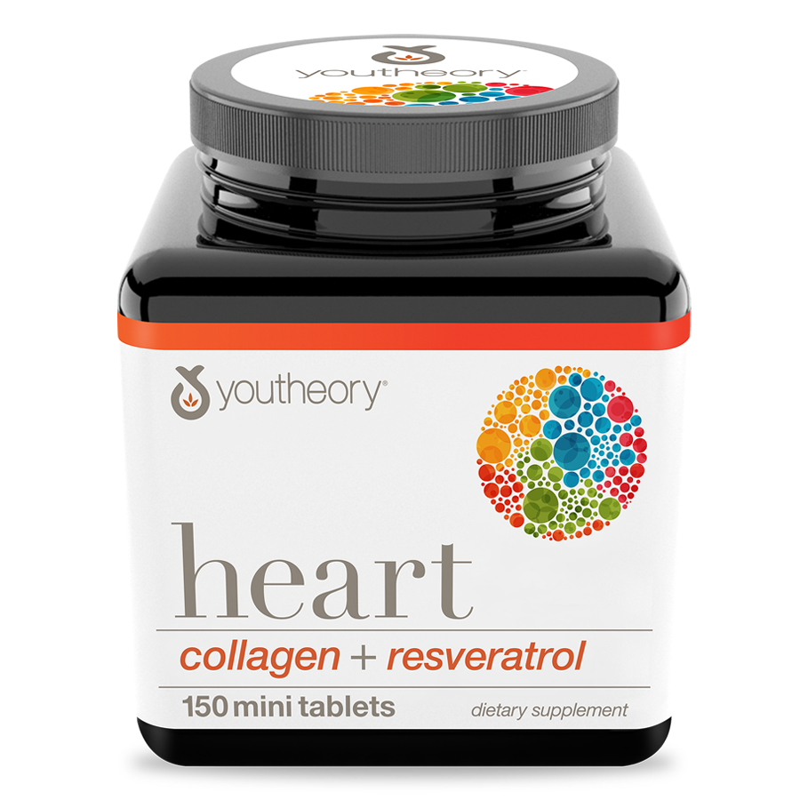 Heart Collagen 150 Tablets Bottle Front Side