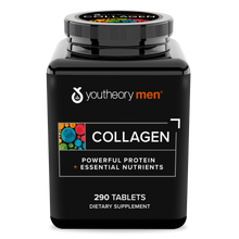 Load image into Gallery viewer, Mens Collagen 290 Tablets Bottle Front Side