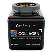 Load image into Gallery viewer, Mens Collagen 160 Tablets Bottle Front Side